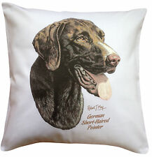 More details for german shorthaired pointer  rm breed of dog themed cotton cushion cover