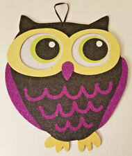 "Halloween Owl Hanging Decoration Sign 9.5""X11"" w"
