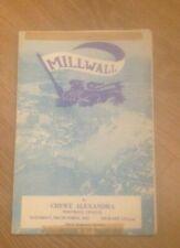 MILWALL V CREWE ALEXANDRA - DIVISION 4 - 24/10/1964