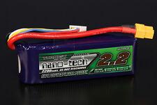 Turnigy Nano-Tech 2200mAh 4S 14.8V 45C 90C LiPo Battery Pack RC Air Helio Quad