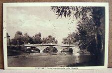 Volvera - Ponte monumentale sulla Chisola [piccola, b/n, viaggiata]