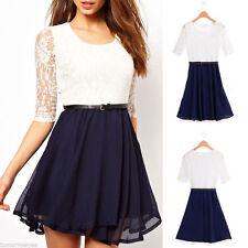 Unbranded Chiffon 3/4 Sleeve Regular Size Dresses for Women