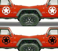 Set of 2 America US U.S. Army Distressed Star Vinyl Decal Sticker Dodge & Ram V6