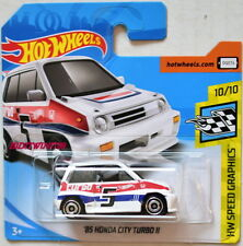 HOT WHEELS 2018 HW SPEED GRAPHICS '85 HONDA CITY TURBO II WHITE SHORT CARD