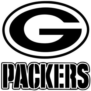 """Green Bay Packers NFL Decal """"Sticker"""" for Car or Truck or Laptop"""