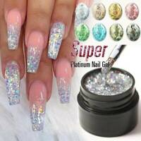 Rainbow Colors Nail Art Glitter Dust UV Gel Acrylic Powder Sequins Decor Tips
