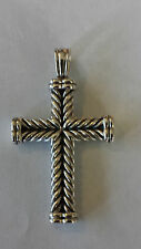 David Yurman Mens/Womens Sterling Silver Cross from The Chevron Collection