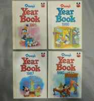 4 disney year books 1985 1986 1987 1990 wonderful world of reading yearbook lot