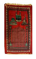 Muslim Prayer Rug slamic Janamaz Sajadah Namaz Sajjadah Prayer Mat, Red