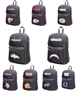 NFL BACKPACK BOOKBAG SCHOOL BAG NEW You Select the Team FREE SHIPPING