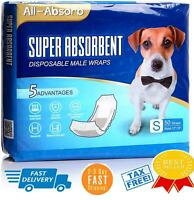 50-Pack All Size Waist Disposable Dog Diapers Male Wraps Belly Bands Pet Soft