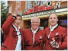 Augenthaler Pflügler Roth FC Bayern GF original Autogramm signiert signed 8x10