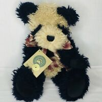 """Boyds Bears and Friends Panda Bear Hsing Hsing 14"""" Tags Plaid Bow Black Beige"""