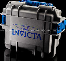 Brand New Invicta Three Slot Impact Diver's case/Box Blue/Gray