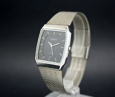 New old stock 28,5 mm ORIENT vintage quartz watch NOS working perfect black dial