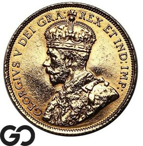 1913 $5 Canadian Gold Coin, Five Dollar Canada Gold