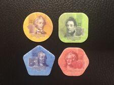 Transnistria 2014 set of 4 composite plastic coins 1 3 5 10 roubles - UNC