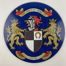 Family Coat of Arms Surname Coaster COOK Heraldic Crest Circular Drinks Mat