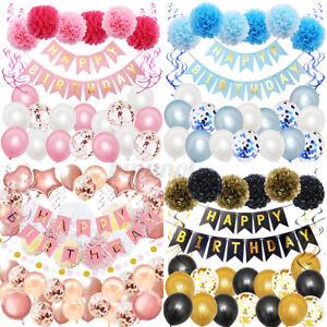 29x Geburtstagsdeko Geburtstag Dekoration Happy Birthday Party Girlande Mädchen