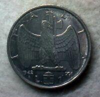 (CC2) 2° 1942 XX Vittorio Emanuele III 1 lira