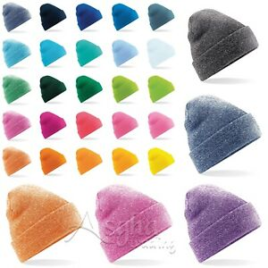 Beechfield Original Cuffed Beanie Soft Touch Beanie Double Layer Pull On Hat