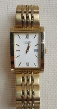 CITIZEN QUARTZ TWO TONE MENS WATCH MODEL 1012 IS IN WORKING CONDITION