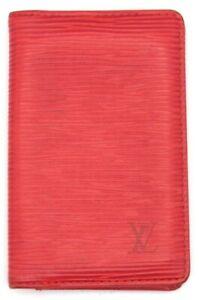 Auth LOUIS VUITTON Epi Castilian Red Organizer de Posh Card case M6358E Spain