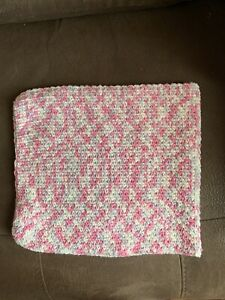 Handmade Crochet Cowl, Neck warmer In Shades Of Pink, White And Pale Lavender
