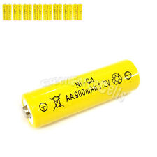 16 Pcs AA 2A 900mAh 1.2V Ni-Cd Ni-Cad Solar Light Rechargeable battery Yellow