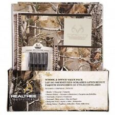 REALTREE 6 PC SCHOOL SUPPLY SET - NOTEBOOK, PAPER, BINDER, FOLDER, PENS, NOTES