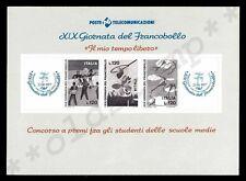 ITALIA 1977 Il rarissimo Foglietto Giornata del Francobollo INTEGRO **