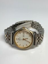 Titan Mens Stainless Steel Two Tone Quartz Day Date Watch WORKING