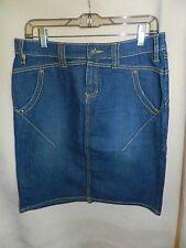 Daisy Fuentes Moda Womens Sz 6 Blue Denim Jeans Skirt  Length 21 1/2