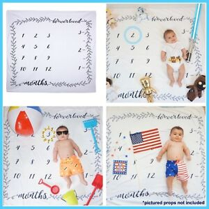 Baby Milestone Blanket - Monthly Photography Photo Prop - Great Baby Shower Gift
