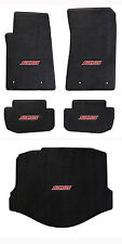 NEW! BLACK FLOOR MATS 2010-2015 Camaro Embroidered Logo SS in Red on all 5 mats