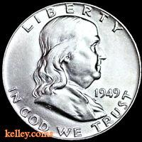 1949-D 50C Franklin Silver Half Dollar BU ~KEY DATE ~