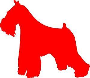 Wand-Aufkleber- Schnauzer, Hund 20 cm x 17,2 cm diverse Farben zur Wahl - Art809