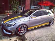 Yellow Sticker Side Skirt Only for Mercedes Benz A 45 A200 A250 Class  AMG