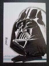 2009 Star Wars Artist Sketch Card DARTH VADER by Lee Kohse