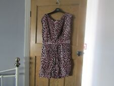 Be Beau pink leopard print dress size 14