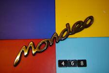 FORD MONDEO ST24, ST200, GHIA, GHIA X, CHROME & BLACK PLASTIC REAR BADGE EMBLEM.