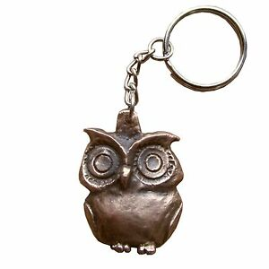 Schlüsselanhänger Eule Bronze key chain owl