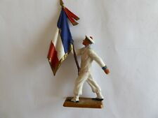 Starlux Plastic French Sailor marching with French National Tri Colour Flag