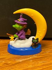 New Solar Powered Dancing Toy Bobble Head - Swinging Witch With Moon