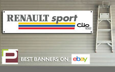 Renault Clio 182 Sport Banner for Garage, Workshop, Retro, Rally, Track Car