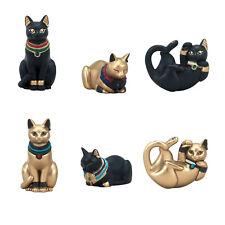 Blind Box Toy Ancient Egyptian Bastet Gold Black Cat Mini Statue 1 Random Figure