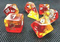 RPG 7-teilig Würfel Set Poly DND Gelb Rollenspiel w4-w20 dice4friends Tabletop