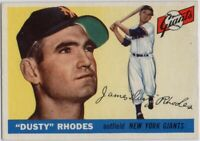 1955 Topps #1 Dusty Rhodes VG-VGEX+ Wrinkle New York Giants FREE SHIPPING