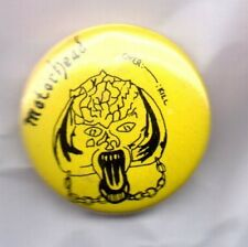MOTORHEAD Over Kill BUTTON BADGE ENGLISH ROCK / METAL BAND - LEMMY 25mm PIN