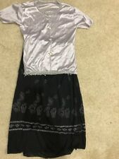 Formal Skirt And Shirt Embroidered Girls Size 8/10